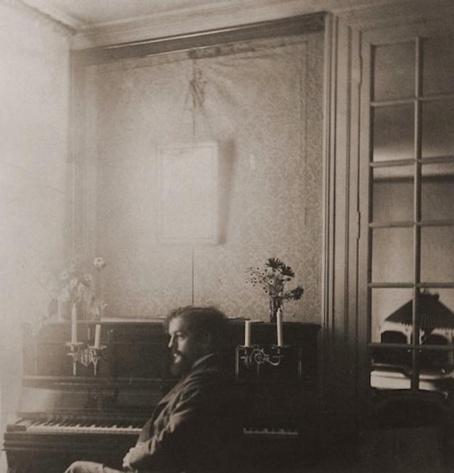 Claude Debussy - maison de famille des Fontaine à Mercin, Aisne, circa 1898