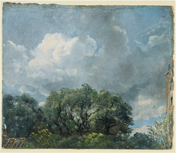 study of sky and trees.  john constable