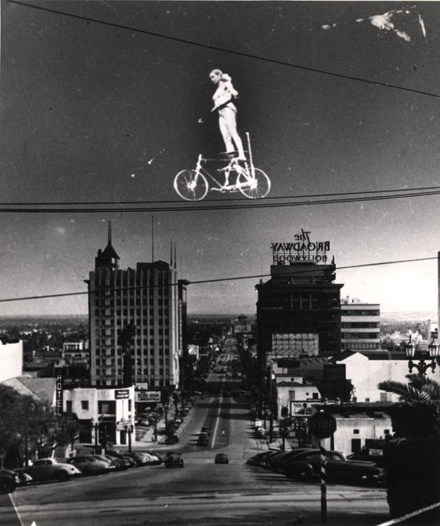 Weegee, Josephine Barricini, Vine St., Hollywood, Cal., ca. 1953-55 .   Slowly