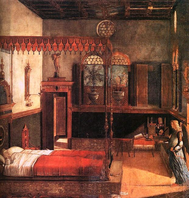 Vittore Carpaccio, The dream of St Ursula, 1494