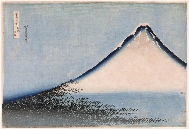 Hokusaï le Fuji bleu