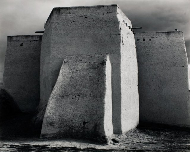 %22Saint- Francis Church, Rancho De Taos, NM, c. 1950 -Ansel Adams (1902-1984)