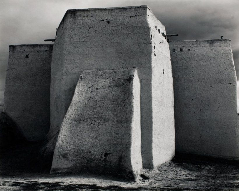 %22Saint- Francis Church, Rancho De Taos, NM, c. 1950 -Ansel Adams (1902-1984)