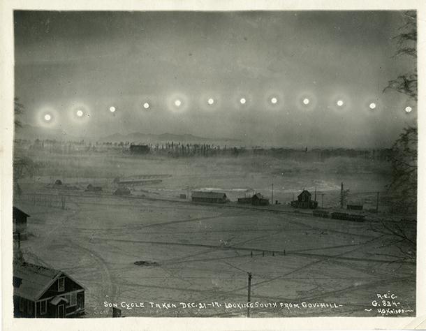 HG KAISER, Sun cycle. 21 décembre 1917,  sud de la colline du gouvernement. Anchorage, en Alaska