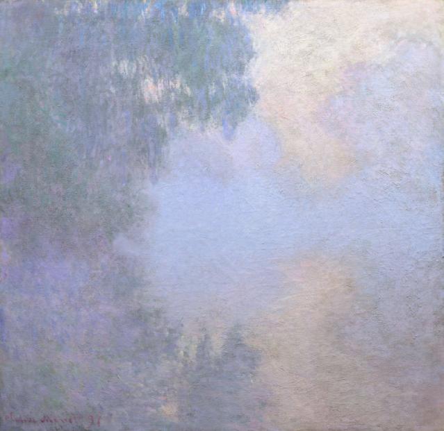 """Branche de la Seine près de Giverny. De la série """"Matins sur la Seine"""", 1897. Claude Monet"""