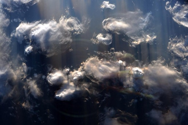 The shadows cast from these thunderstorms really are #EarthArt.