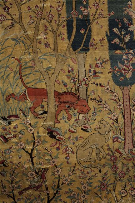 Moitié de tapis dit Jardin de Paradis Afghanistan, Hérat ou Iran, Tabriz ; 2e quart du XVIe siècle - XVIe