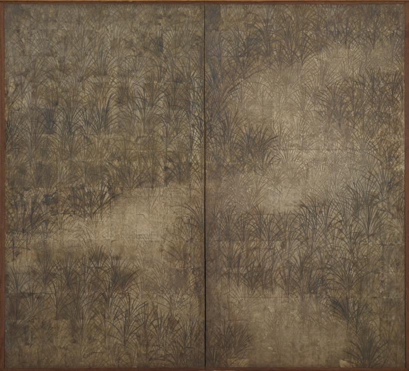 Suzuki Kiitsu, herbe d'Automne période Edo, 19e siècle