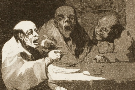 Goya, detail from Plate 13 of Los Caprichos (1799)