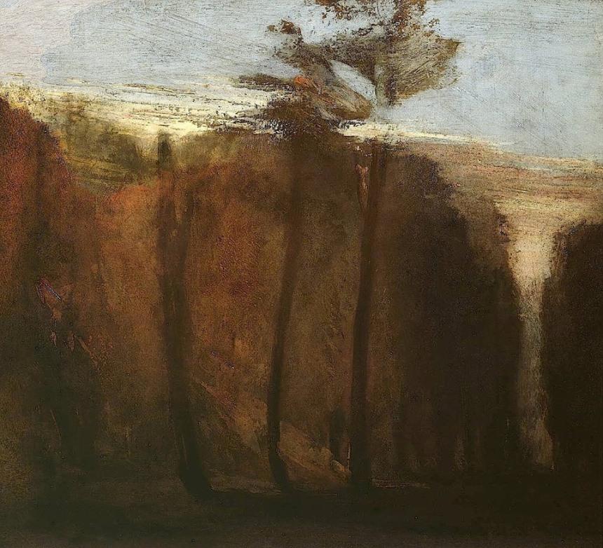 Turner - une allée d'arbres - c.1822