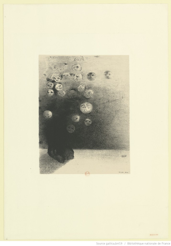 Image[N'y a-t-il pas un monde invisible] - [estampe] : Odilon Redon