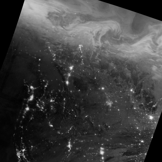 Lights in the Darkness via NASA