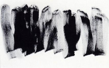 Henri MICHAUX, Sans titre, 1975, acrylique sur papier.